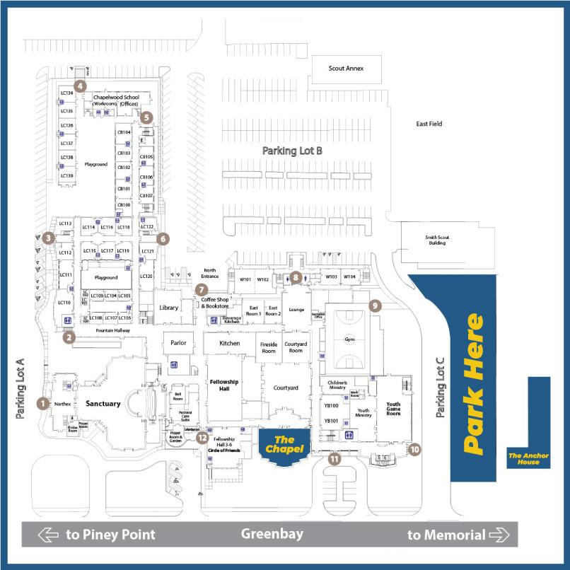 Map of Chapelwood UMC